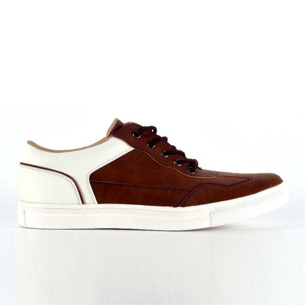 sepatu besar casual nemesis brownwhite