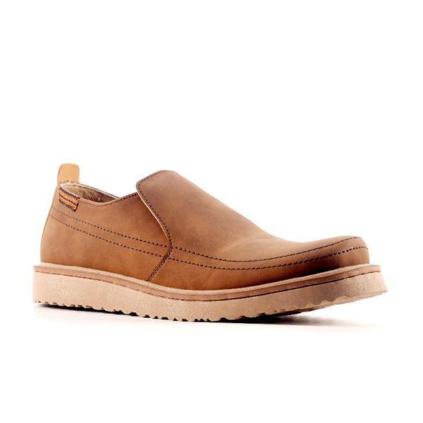 sepatu besar slipon makeda brown