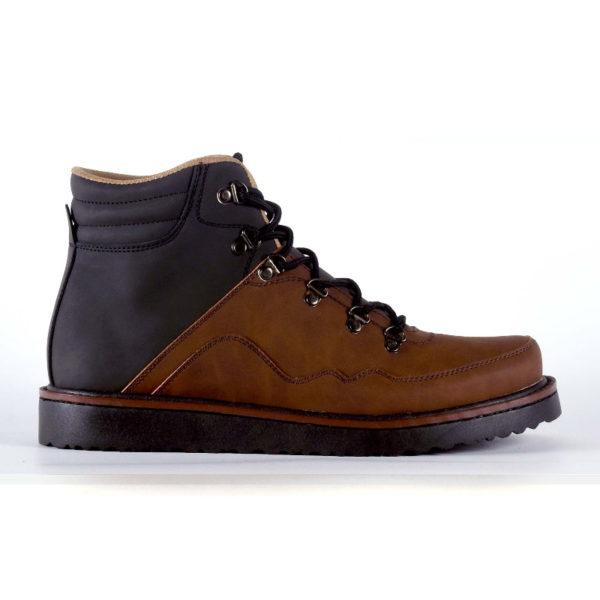 sepatu boots big size jigsaw brownblack