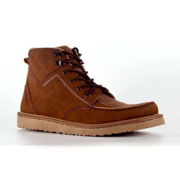 sepatu boots ukuran besar demon brown