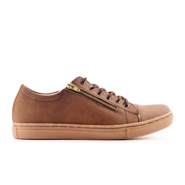 sepatu resleting casual yordan brown