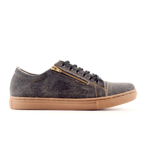 sepatu ritsleting casual yordan black denim