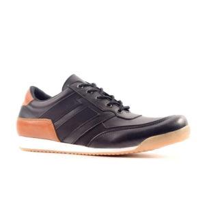 sepatu sneakers besar leroy black