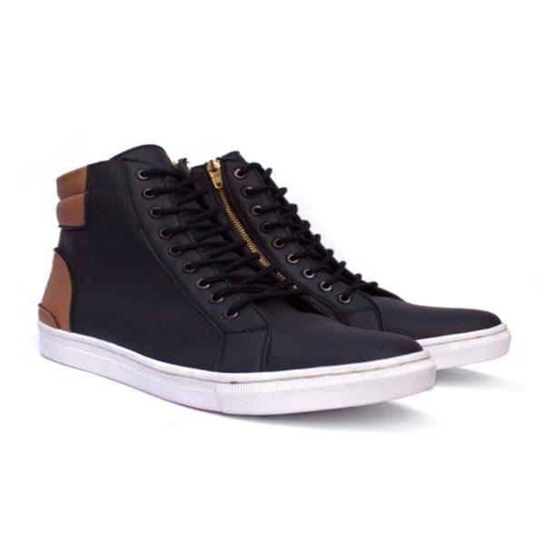 sepatu sneakers tinggi revolver black