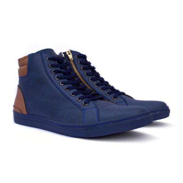 sepatu sneakers tinggi revolver blue