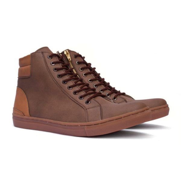 sepatu sneakers tinggi revolver brown